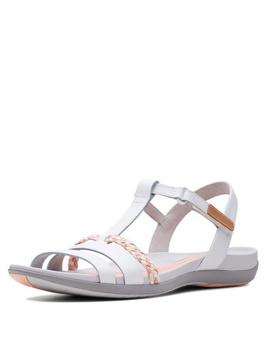 279480fa729c Clarks Tealite Grace Flat Sandal Shoes - White