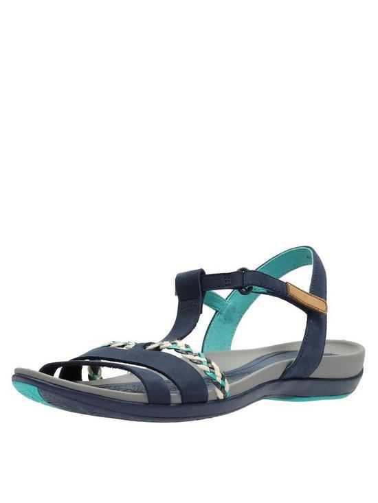 cca9624aa83 Clarks Tealite Grace Flat Sandal Shoes - Navy