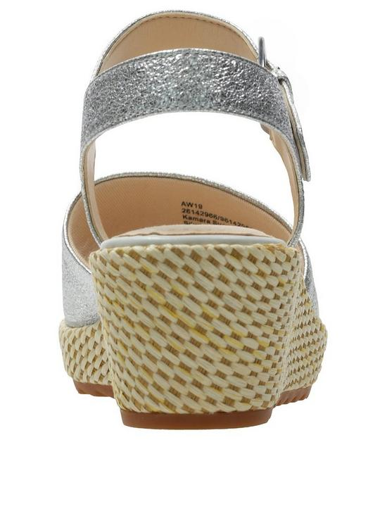85dea306457 ... Clarks Clarks Kamara Sun Wedges - Silver Metallic. 4 people have looked  at this in the last couple of hrs.
