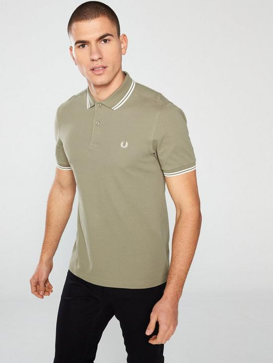 bfb3eba37 Fred Perry Twin Tipped Polo Shirt - Sage