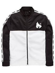 money-boys-tape-zip-trough-track-top-black