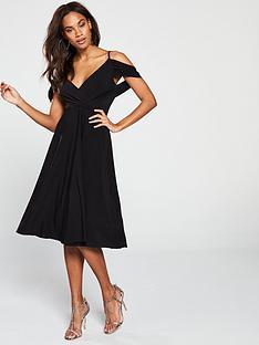 v-by-very-occasion-cold-shoulder-jersey-midi-dress-black