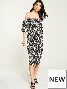 7b768574559 V by Very Bardot Button Through Linen Dress - Printed
