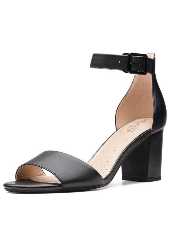 Clarks Deva Mae Heeled Sandals - Black