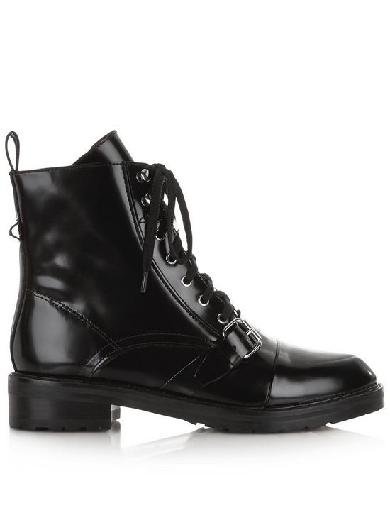 dbf3705c3d AllSaints Donita Lace Up Ankle Boots - Black | very.co.uk