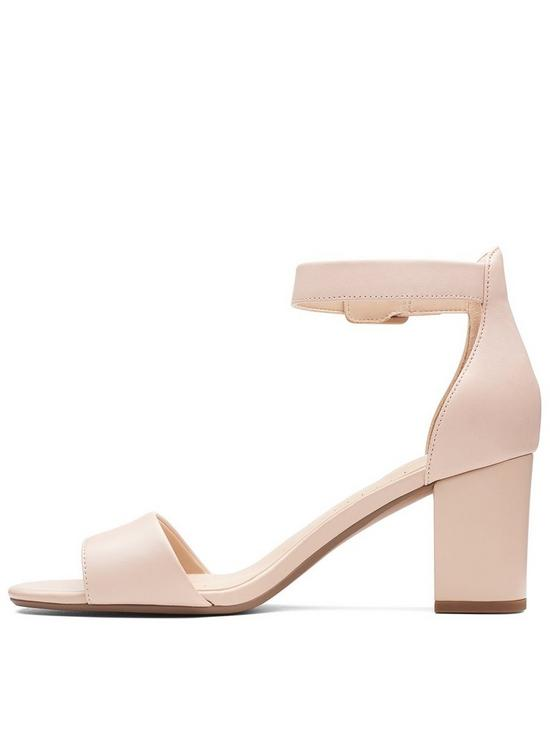 45c762e1182 ... Clarks Deva Mae Heeled Sandal Shoes - Nude Pink. 3 people are looking  at this right now.