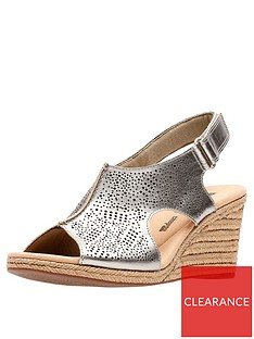 clarks-lafley-rosen-wedge-sandals-pewter-metallic