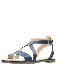 e92f1dcf676b Clarks Bay Rosie Flat Sandals - Navy