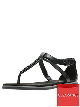 clarks-bay-poppy-flat-sandal-black