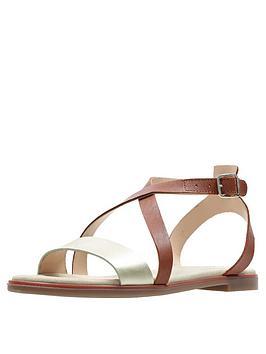 clarks-bay-rosie-flat-sandals-rust
