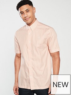 fred-perry-vertical-striped-shirt-apricot