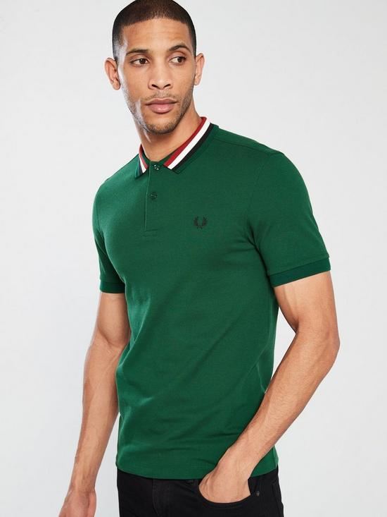 63fc3ec8 Fred Perry Bomber Stripe Pique Polo Shirt - Ivy | very.co.uk