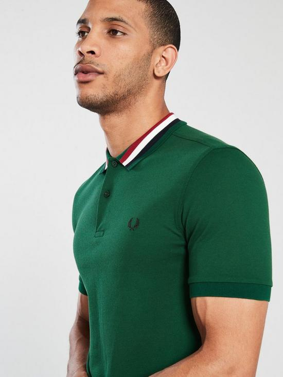1f32ba94 ... Fred Perry Bomber Stripe Pique Polo Shirt - Ivy. View larger