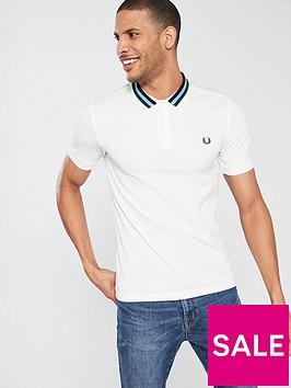fred-perry-bomber-stripe-pique-polo-shirt-white