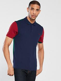 fred-perry-bold-cuff-insert-pique-polo-shirt-carbon-blue