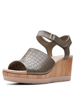 clarks-cammy-glory-wedge-sandals--nbspolive