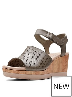 ebdf8767d Clarks Cammy Glory Wedge Sandals - Olive