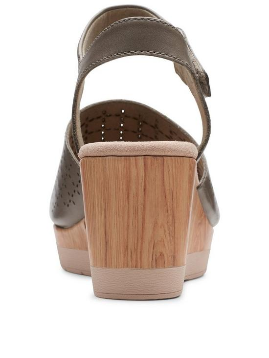 8314fdfaa ... Clarks Cammy Glory Wedge Sandals - Olive. 7 people have looked at this  in the last couple of hrs.
