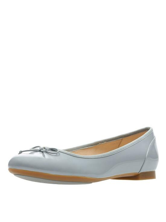 21e5db5f0cd Clarks Couture Bloom Ballerina Shoes - Grey   very.co.uk
