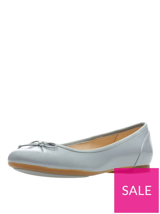 41138dc7d64c2 Clarks Couture Bloom Ballerina Shoes - Grey   very.co.uk