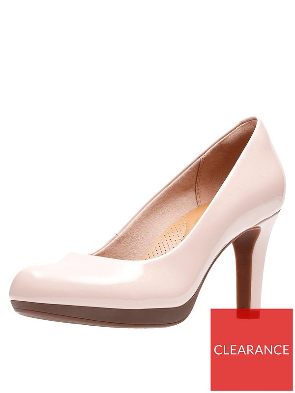 Adriel Viola Heeled Court Shoes Nude Pink
