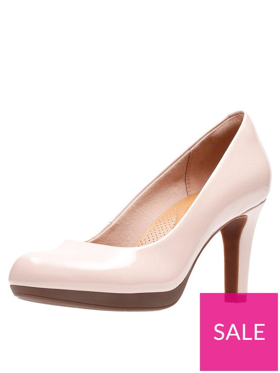 79654d5d91 Clarks Adriel Viola Heeled Court Shoes - Nude Pink | very.co.uk