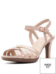 10fa664690c2 Clarks Adriel Wavy Wide Fit Heeled Sandals - Dusty Pink