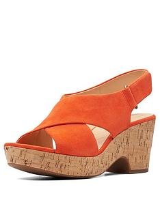 clarks-maritsa-lara-wide-fit-wedges-orange