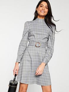 v-by-very-belted-dress-check