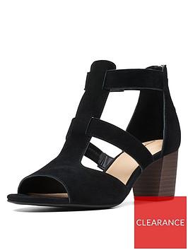 clarks-deloria-fae-heeled-suede-sandals-black