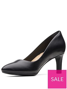 9a78f00c80 Clarks Calla Rose Wide Fit Heeled Shoes - Black