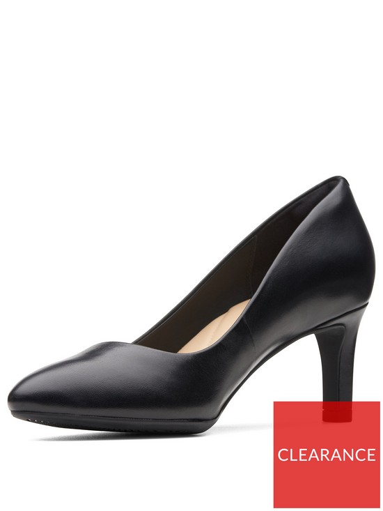 16e7fcc2 Calla Rose Wide Fit Heeled Shoes - Black