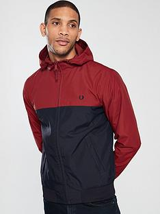 fred-perry-hooded-panelled-brentham-jacket-red