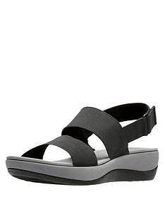 clarks-cloudsteppers-arla-jacory-wedge-sandals-black