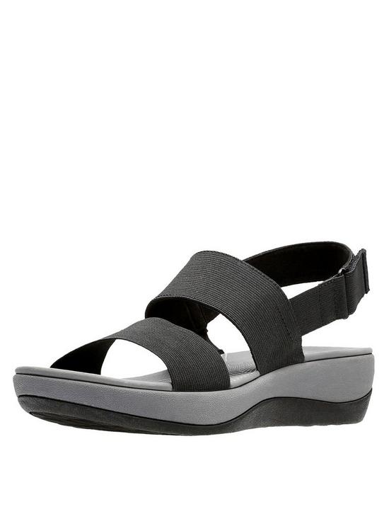 d2503352046 Clarks Cloudsteppers Arla Jacory Wedge Sandals - Black