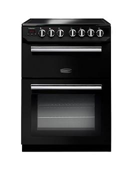 Rangemaster Prop60Ecbl Professional 60Cm Wide Electric Cooker With Ceramic Hob - Black