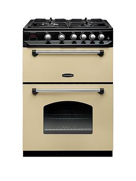 Rangemaster Classic 60 CLAS60NGFCR/C Free Standing Cooker in Cream / Chrome