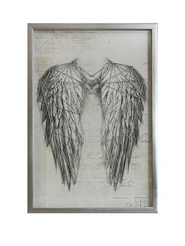 arthouse-angel-wings-silver-metallic-string-art-framed-print