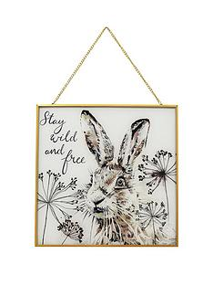 arthouse-hare-glass-hanging-print