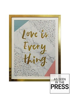 arthouse-terrazo-love-is-everything-framed-foil-print