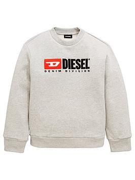diesel-boys-crew-neck-logo-sweat-grey