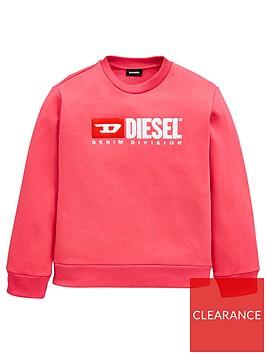 diesel-girls-crew-neck-logo-sweat-pink