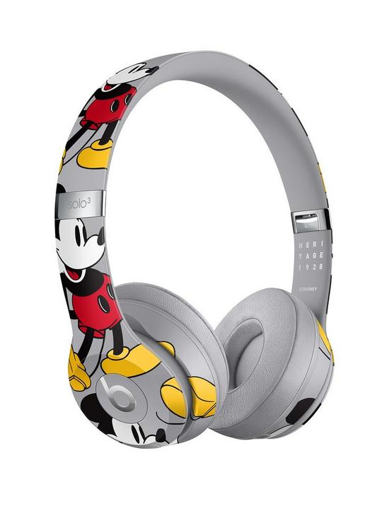 67dc72ad0b4 Beats by Dr Dre Solo3 Wireless Headphones – Mickey's 90th Anniversary  Edition, Grey