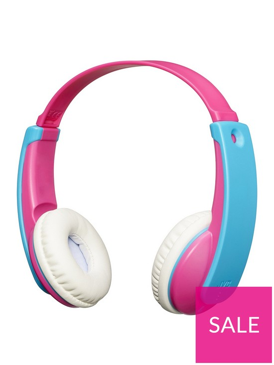 6df08f49c61 JVC TinyPhones Kids Wireless Bluetooth Headphones with Volume Safety  Limiter - Pink