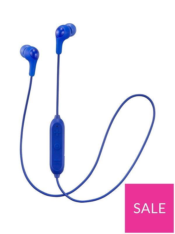 f5c1e2716e6 JVC Gumy In-ear Wireless Bluetooth Headphones with Microphone and Remote -  Blue