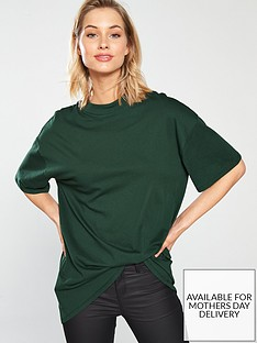 v-by-very-high-neck-longline-tee-forest-greennbsp