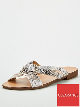 v-by-very-hareem-ring-leather-detail-crossover-flat-sandal