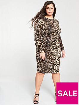 v-by-very-curve-leopard-print-midi-dress-printed