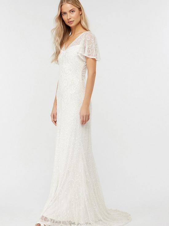 Helena Embellished Maxi Wedding Dress Ivory