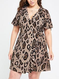 ri-plus-ri-plus-printed-tea-dress-brown